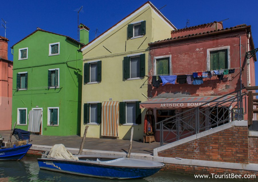 Clothes lines in Burano, Italy.